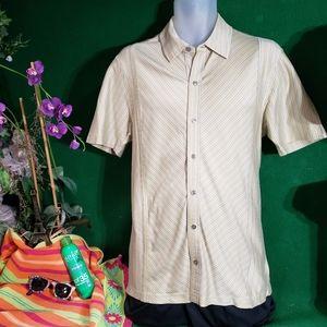 Men's Alfani SS striped shirt medium